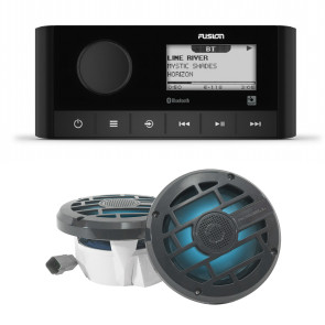 """FUSION RA-60 MARINE STEREO W/ ROSWELL R 6.5"""" Package"""